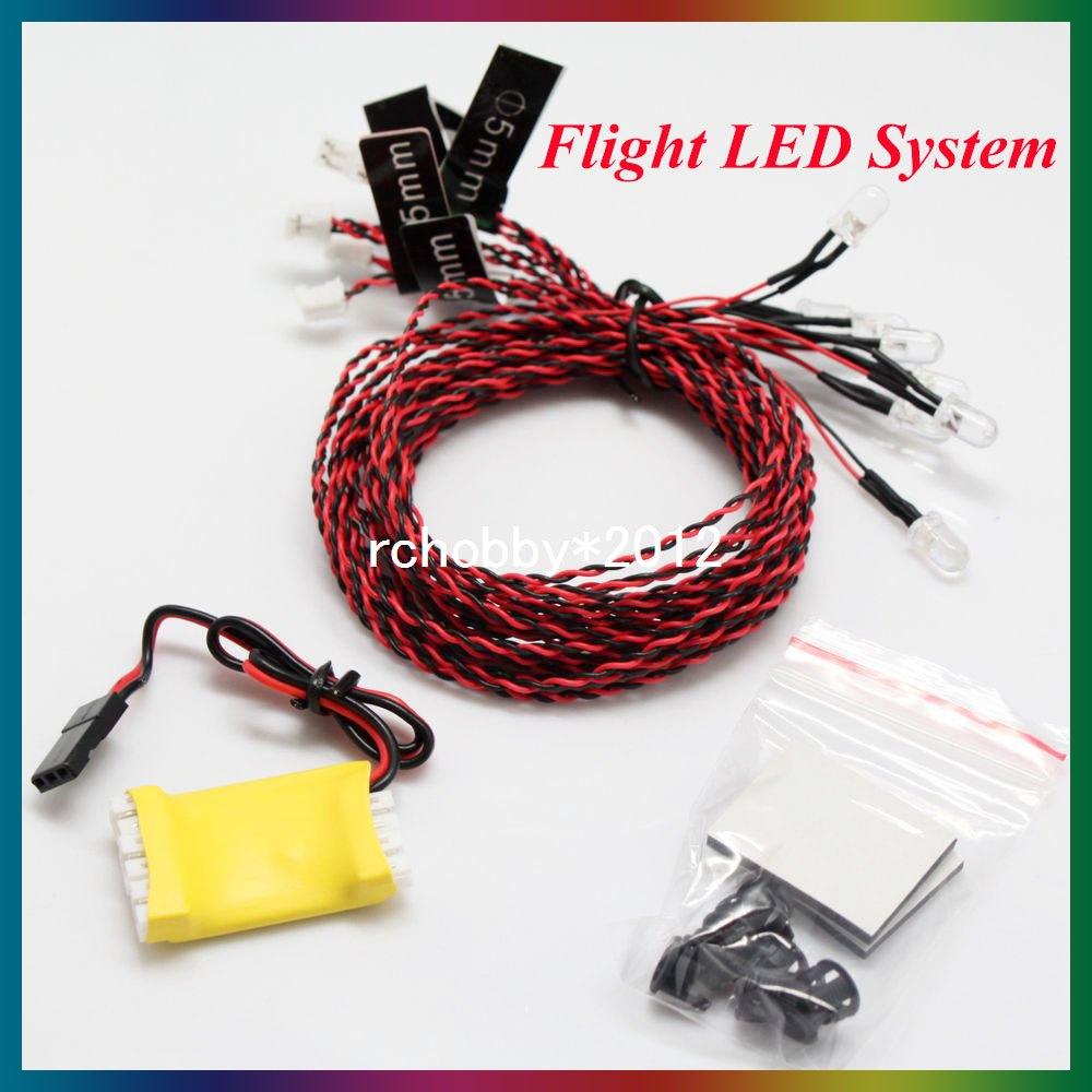 1 X Rc Navigation Lights 8 Led For Plane Helicopter Quad Tri Wiring Night Receiver In Parts Accessories From Toys Hobbies On Alibaba Group