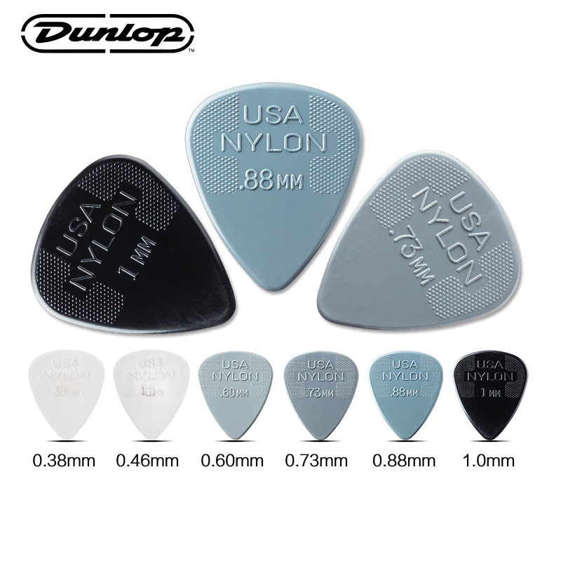 1 Piece Dunlop Nylon Max Grip Standard Guitar Pick Plectrum Mediator Guitar Gicks ,0.6/0.73/0.88/1.0/1.14/1.5mm Guitar Picks