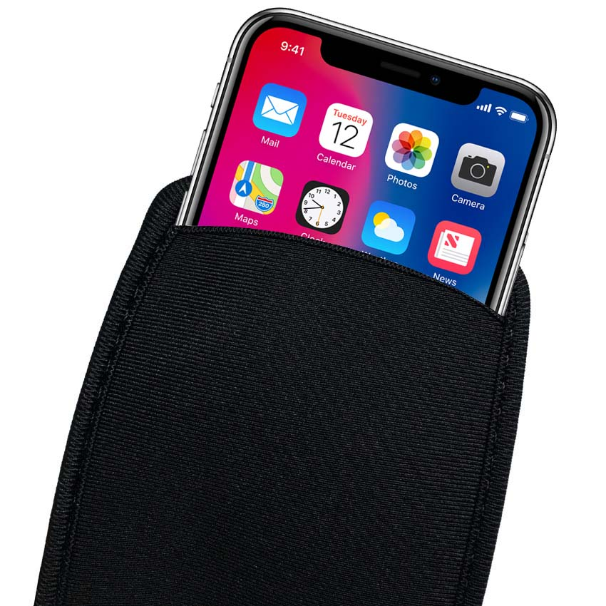 Soft Flexible Neoprene Protective Pouch Bag for iPhone XS