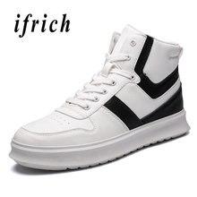 f26b4b376 Novos Homens Jovens Calçados Casuais High Top Mens Sapatos De Sola Grossa  Outono Inverno Masculino Sapatos De Marca de Luxo Home.