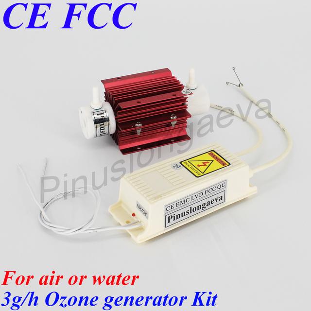Pinuslongaeva 3g 5g 8g 10g 12g 15g/h Quartz tube type ozone generator Kit room air water purifier AC220V AC110V DC12V DC24V