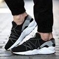 Nuevo 2016 Hombres Zapatos Casuales Red Lace Up Wedge Entrenadores Hombres Zapatos de Malla Transpirable Zapatos Al Aire Libre Unisex Tamaño 35-44