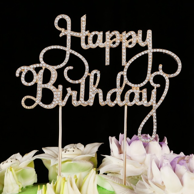Happy Birthday Cake Toppers Silver Lettershappy Tool Party Supplies Ideas Glitter