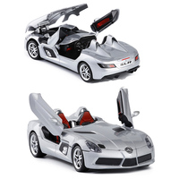 1:24 High Simulation Exquisite Collection Toys Car With Sound Light SLR AMG Model Alloy Supercar Model No Box V084