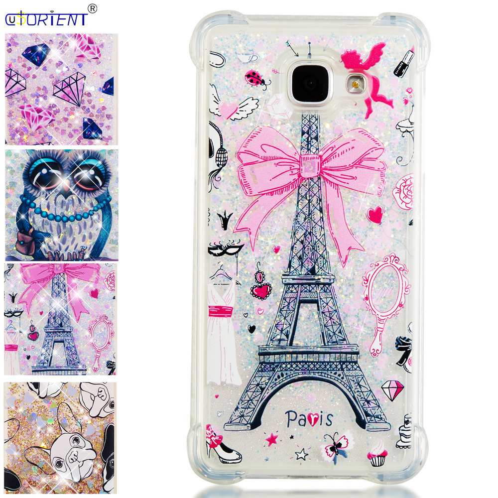 Bling Glitter Case For Samsung Galaxy A5 2016 Dynamic Liquid Quicksand Silicone Tpu Phone Cover Sm-a510f/ds A510f Sm-a510x Funda Special Summer Sale Half-wrapped Case