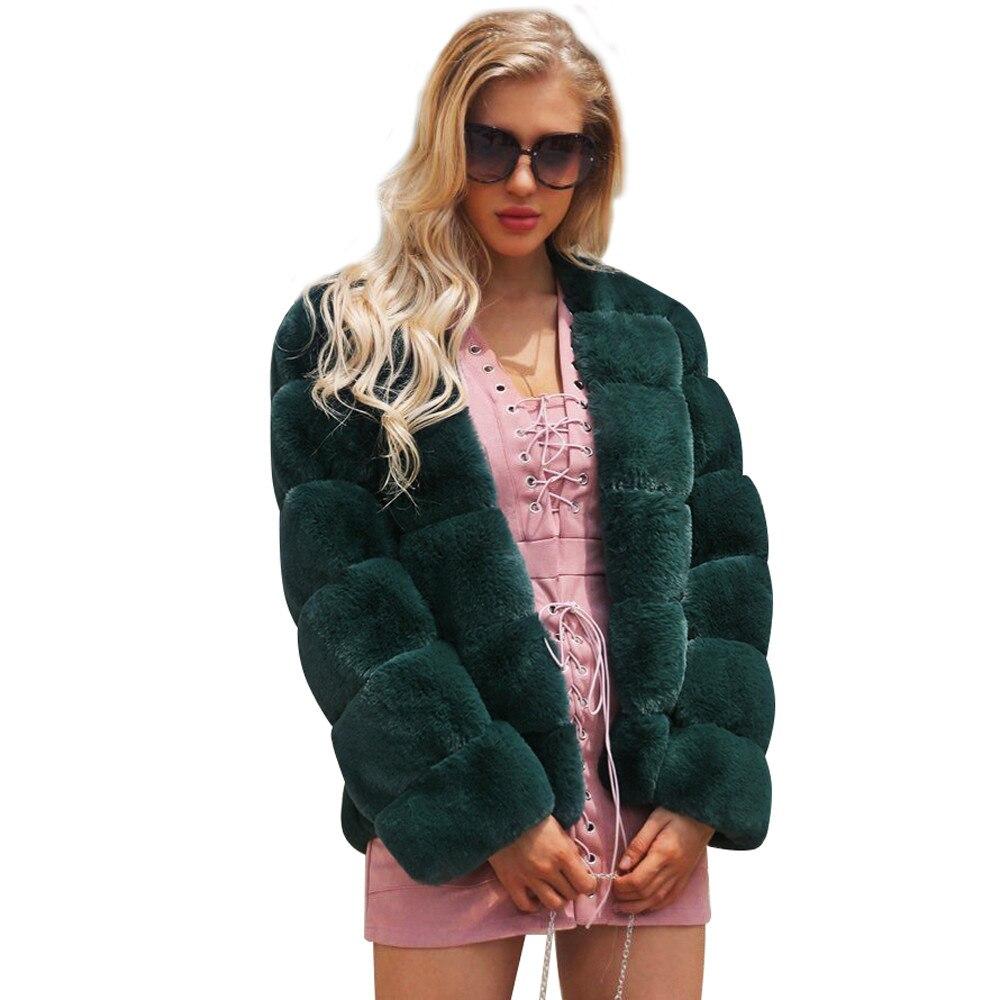 De Femmes Fourrure Cardigan Hiver Vert gris Survêtement Imitation Faux rose Nouveau Voguewarm noir Manteau pourpre Veste Renard Belle nt0w8qPSt