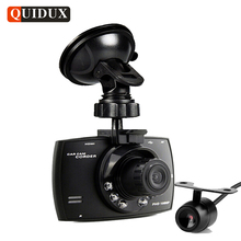 G30 QUIDUX lente Dual Cámara Del Coche DVR HD 1080 P Grabador de Vídeo Night Vision Auto Dash cam Veicular DVRs Kamera dos cámaras Logger