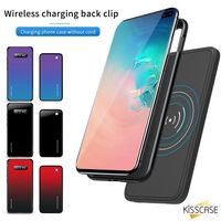 KISSCASE Portable Qi Wireless Charger Power Bank 5000mAh Battery Case For Samsung Galaxy S9 S9 Plus S10 S10 Plus S8 S8 Plus Capa