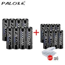 Consumer Electronics - Accessories  - PALO 8pcs AA Rechargeable Battery 3000mAh 1.2V AA+Ni-MH AAA Battery 1100mAh Rechargeable Batteries Mix Colors For Toys Power
