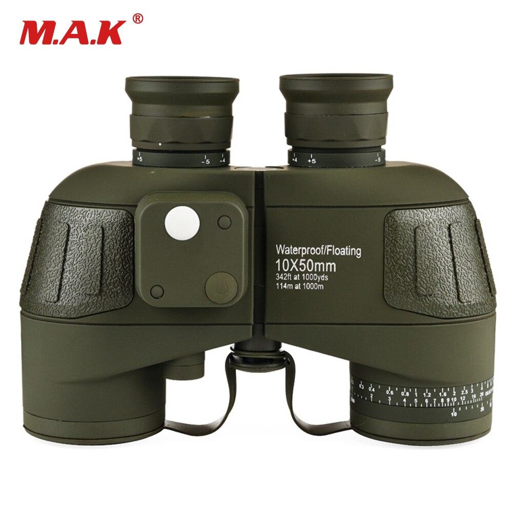 Jumelles militaires 10x50 HD étanche Zoom télémètre boussole télescope oculaire pour la chasse