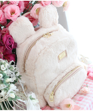 Принцесса сладкий Лолита сумка оригинальные новые японские милые плюшевые меховые наушники белый студент рюкзак ensso 053