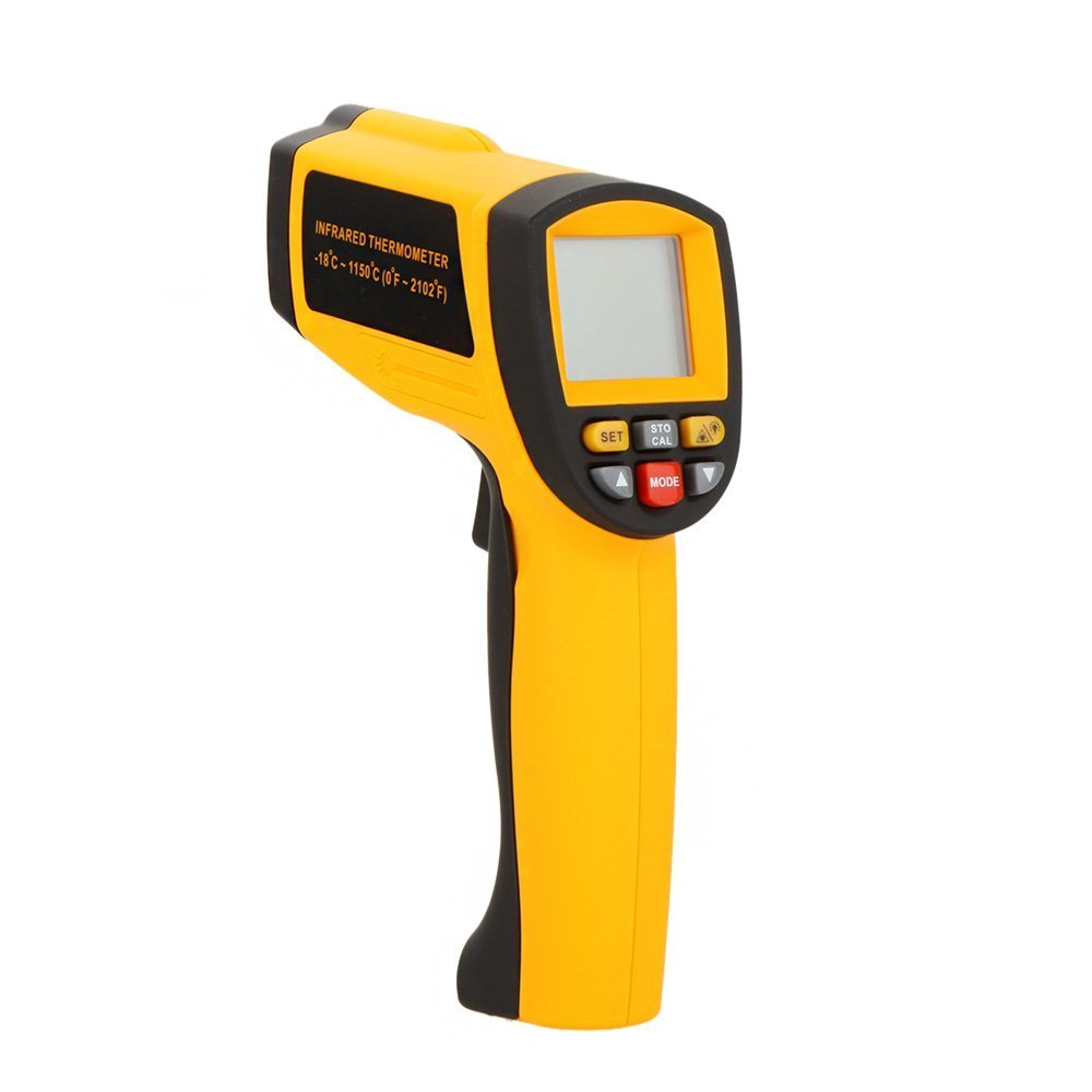 ФОТО Digital GM1150A 1PC Non-Contact LCD display IR Infrared Temperature Gun Thermometer -18~1150C (0~2102F) 0.1~1.00 adjustable