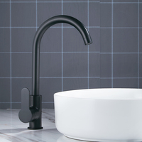 Modern Basin Faucets Black Sink Mixer Taps Kitchen Bathroom Taps Single Lever Faucet Black Basin Mixer
