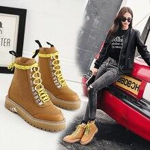Модные женские туфли Ботинки на деревянной подошве земля логотип Chukka зимние кожаные ботильоны для девочек Снегоступы Tims Хантер ковбой Лесоматериалы LY Рабочая обувь большого размера