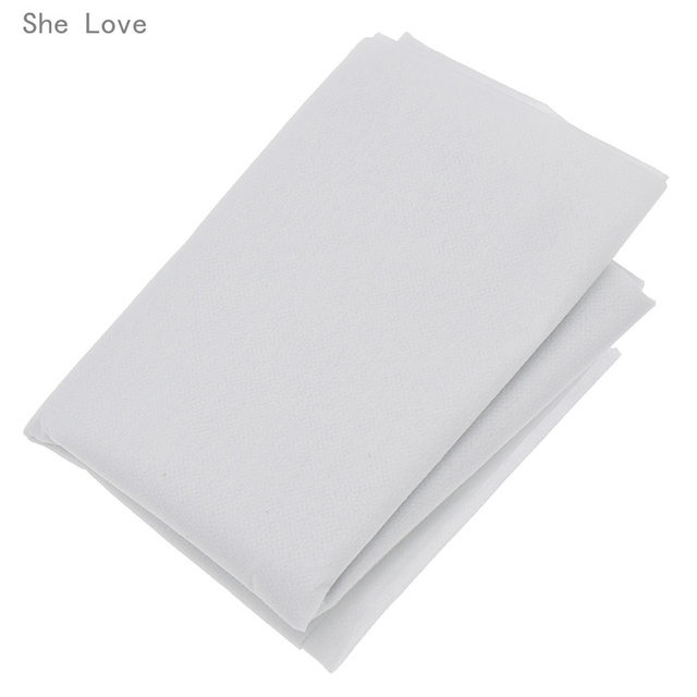 Chzimade 100cm 25g 45g White Non-woven Fabric Interlinings Iron On Sewing Patchwork Single-sided Adhesive Lining DIY 5