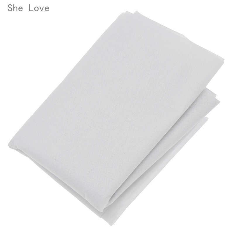 Chzimade-doublure adhésive simple face pour tissu Non tissé blanc, 100cm, 25g, 45g, à faire soi-même