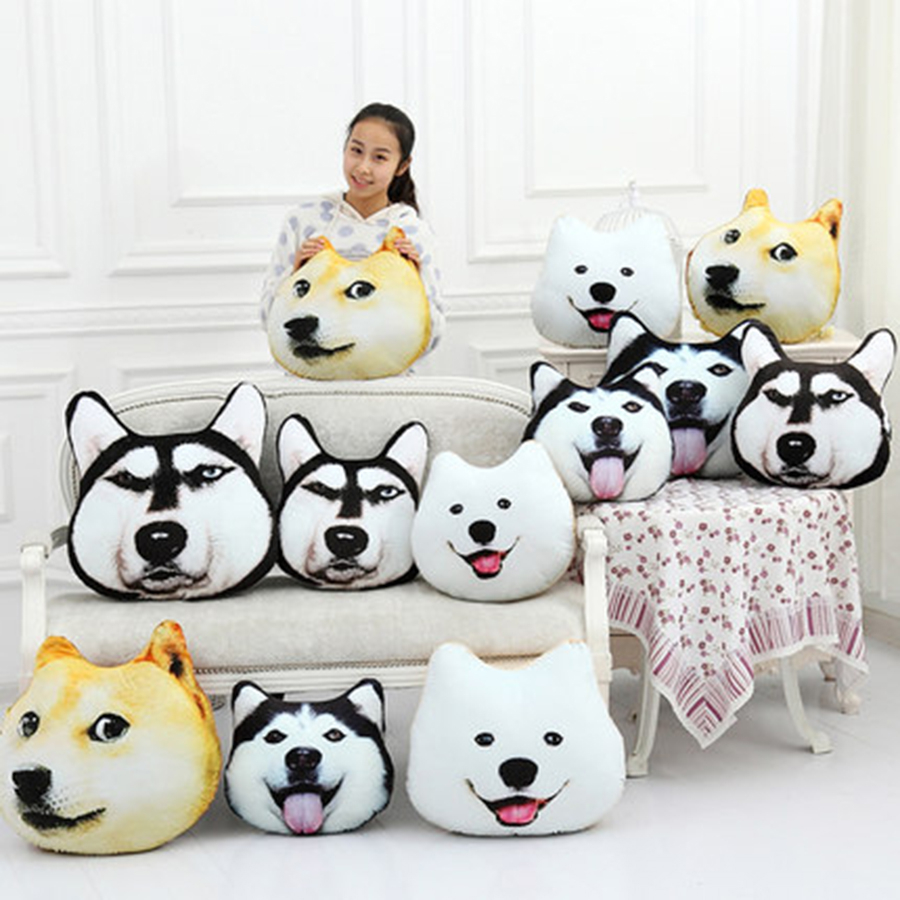 Dog Pillow Toy Soft Stuffed Toy Plush Doll Small Puppy High-End Boutique Decoration Birthday Gift For Girlfriend 70C0626 45cm cute dog plush toy stuffed cute husky dog toy kids doll kawaii animal gift home decoration creative children birthday gift