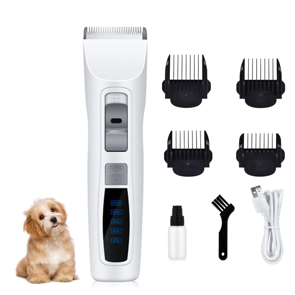Tondeuse électrique Rechargeable pour chien tondeuse à cheveux pour animaux de compagnie