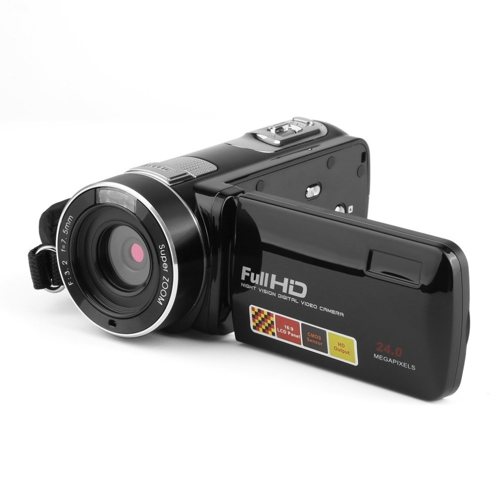 Digital Video Camera Full HD 1080P Portable Camcorders 18X 24MP Home Use DV Video Camera Camcorder 3 Rotating LCD Screen 3 0 lcd screen 1920 1080p full hd video digital camera 7 5mm portable outdoor indoor face capture dv camcorders anti shake