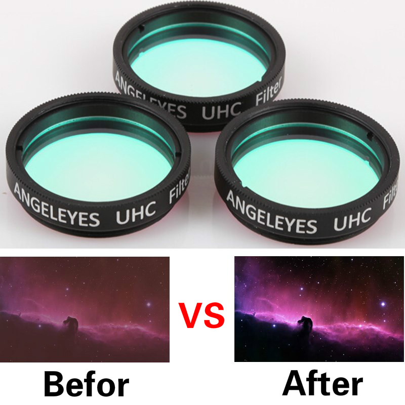 Telescopes 1.25 2 UHC Nebula Filter ULTRA HIGH CONTRAST FILTERS Narrow Bandpass for Astronomy Telescope Cuts Light Pollution optolong 2 filter 25nm o iii nebula o3 optical filter for astronomy telescope high quality 100