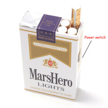 Plastic spoof Cigarette case Entire Electric Prank Fun Toys Shock Tricky  April Fool essential creative gifts