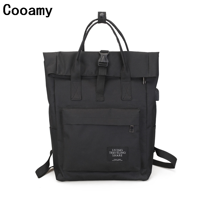 Women Large Capacity Canvas Backpack Multifunctional Shoulder Laptop Backpack USB School Bag Fashion Travel Backpack for Girls best sellers canvas backpack classic fashion women s small fresh school bag travel bags large capacity travel backpack bag