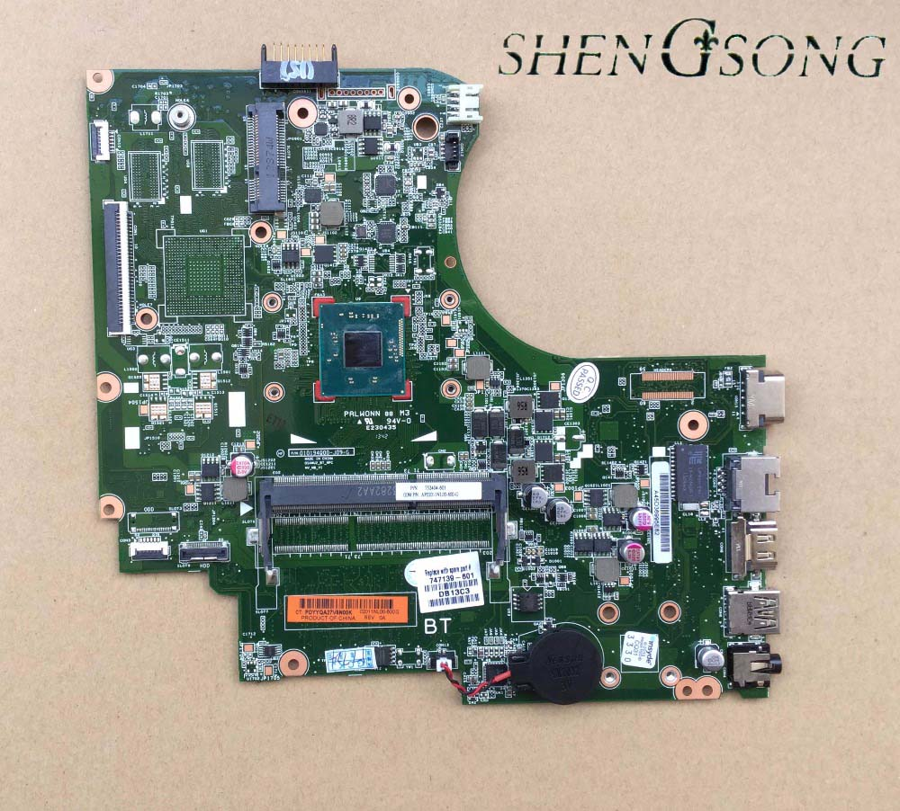 747139-501 Free Shipping FOR HP 15-D 250 G2 Laptop Motherboard 747139-001 N2810 Mainboard 100% tested платье для девочки button blue цвет темно синий 217bbgp25021000 размер 134 9 лет