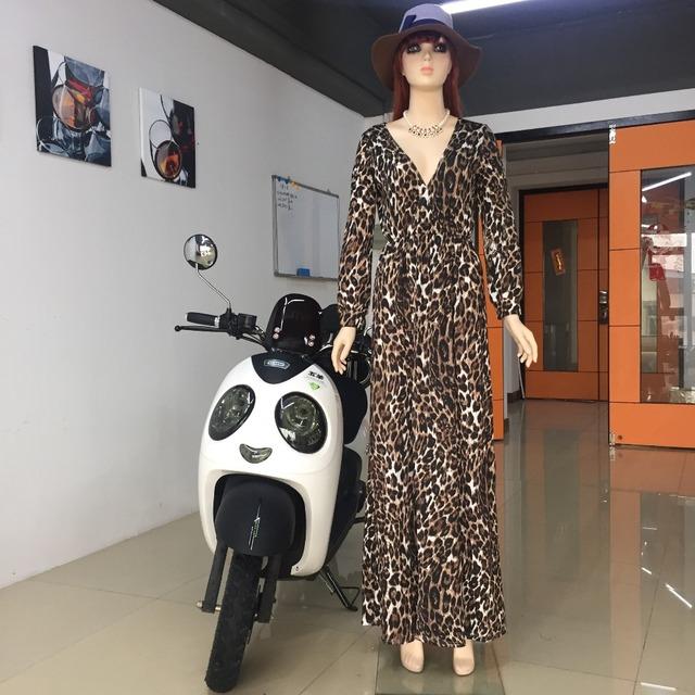 Leopard Print Maxi Dress with Side Split