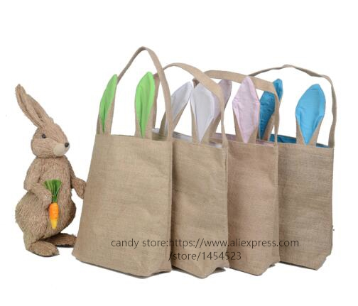 Aliexpress buy 50pcs wholesale easter gifts bag cute rabbit aliexpress buy 50pcs wholesale easter gifts bag cute rabbit ears for kids cotton linen material mix 14 color party new year decoration by dhl from negle Images