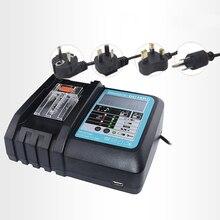 купить 3A Power Tool Li-Ion Battery LCD Screen Charger for Makita 7.2V to 18V BL1830 BL1815 BL1430 DC14SA DC18SC DC18RC DC18RA по цене 1806.09 рублей
