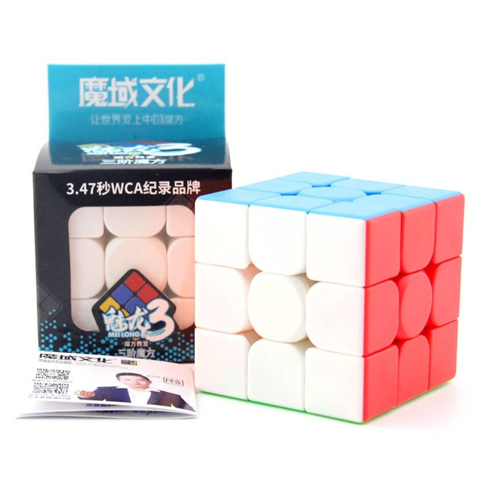 Moyu 3x3 Cube Moyu Meilong 3x3x3 Cube magique WCA 3 couches vitesse Cube professionnel Puzzle jouets pour enfants enfants cadeau jouet