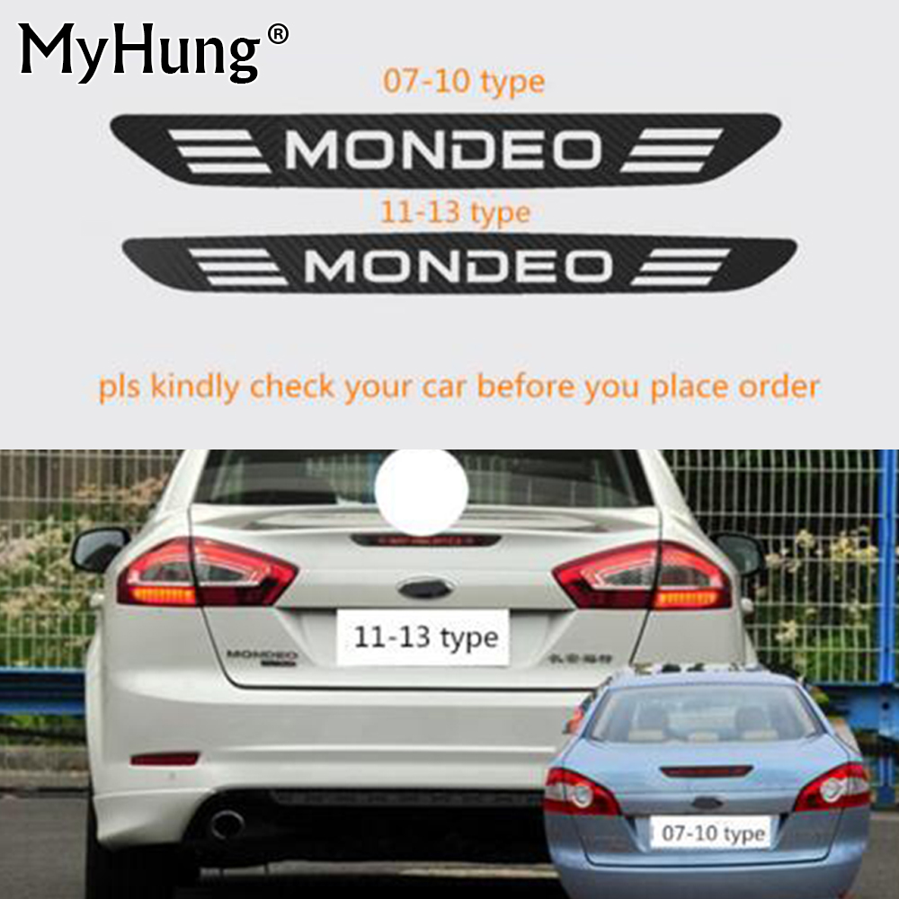 For Mondeo 2007-2010 For Ford Mondeo 2011-2013 Carbon Fiber Rear Windshield Brake Light Decoration Sticker Brake Lights Sticker ...