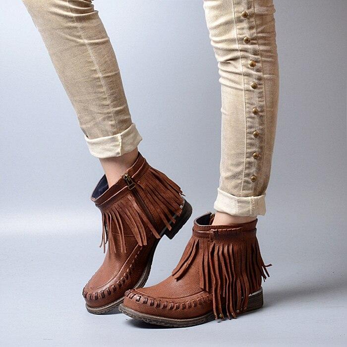 Online Get Cheap Flat Fringe Boots -Aliexpress.com | Alibaba Group