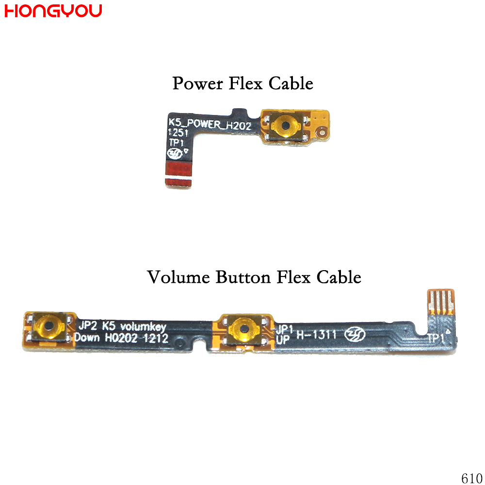 Power Button On / Off Volume Mute Switch Button Flex Cable For Lenovo K900