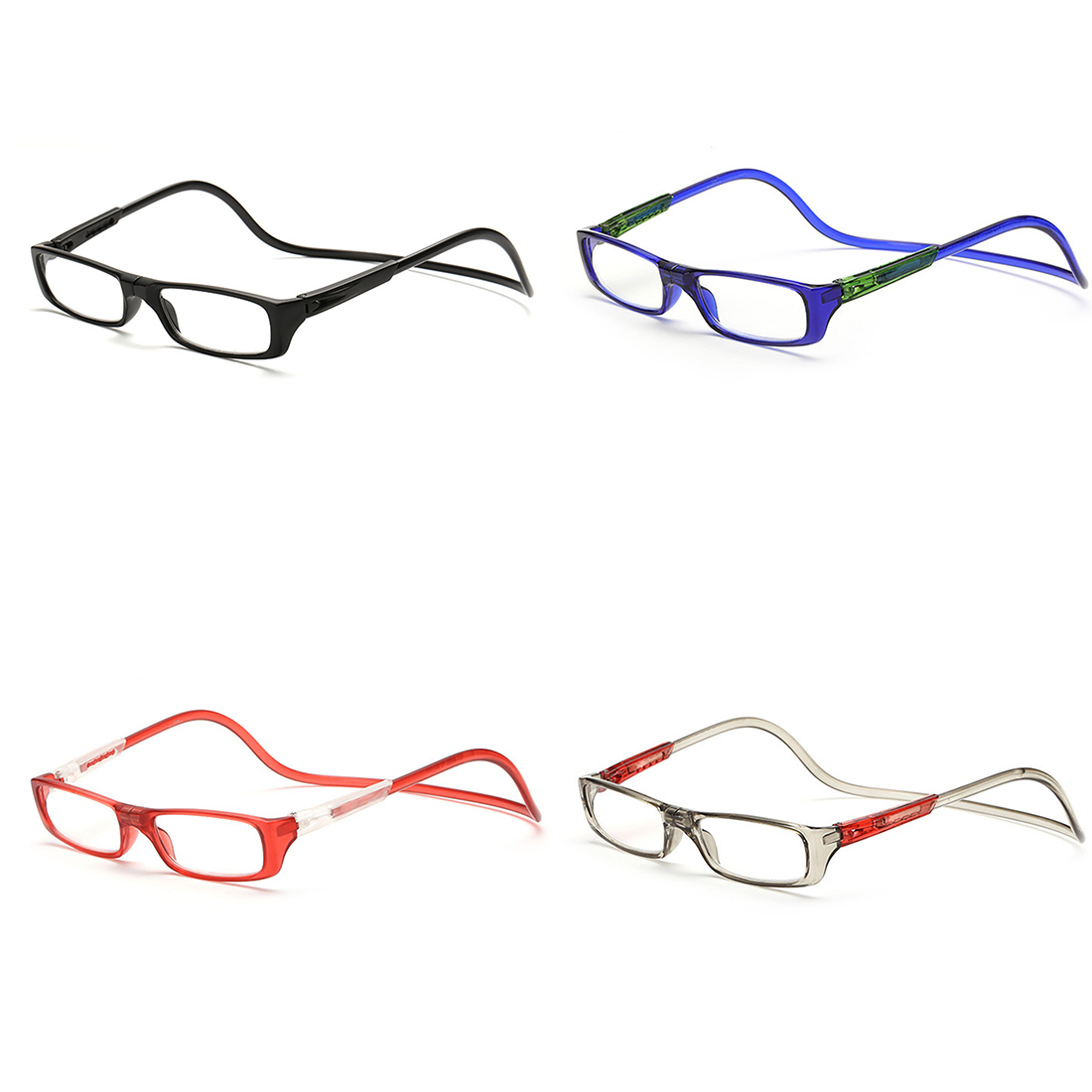Portable Collapsible Reading Glasses 150/200/250/300 Degree Glasses Magnifiers Ultralight Presbyopic Glasses