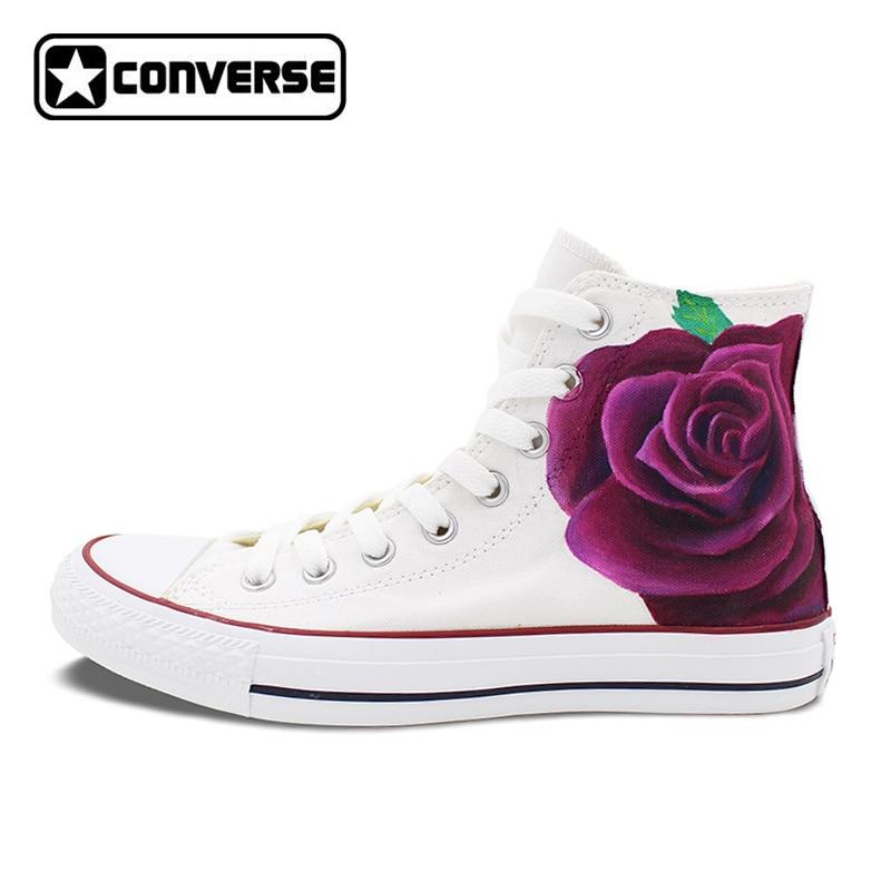 converse femme fleur
