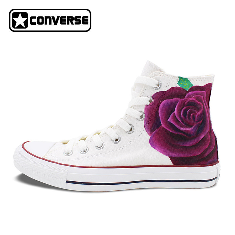 converse femme fleurs