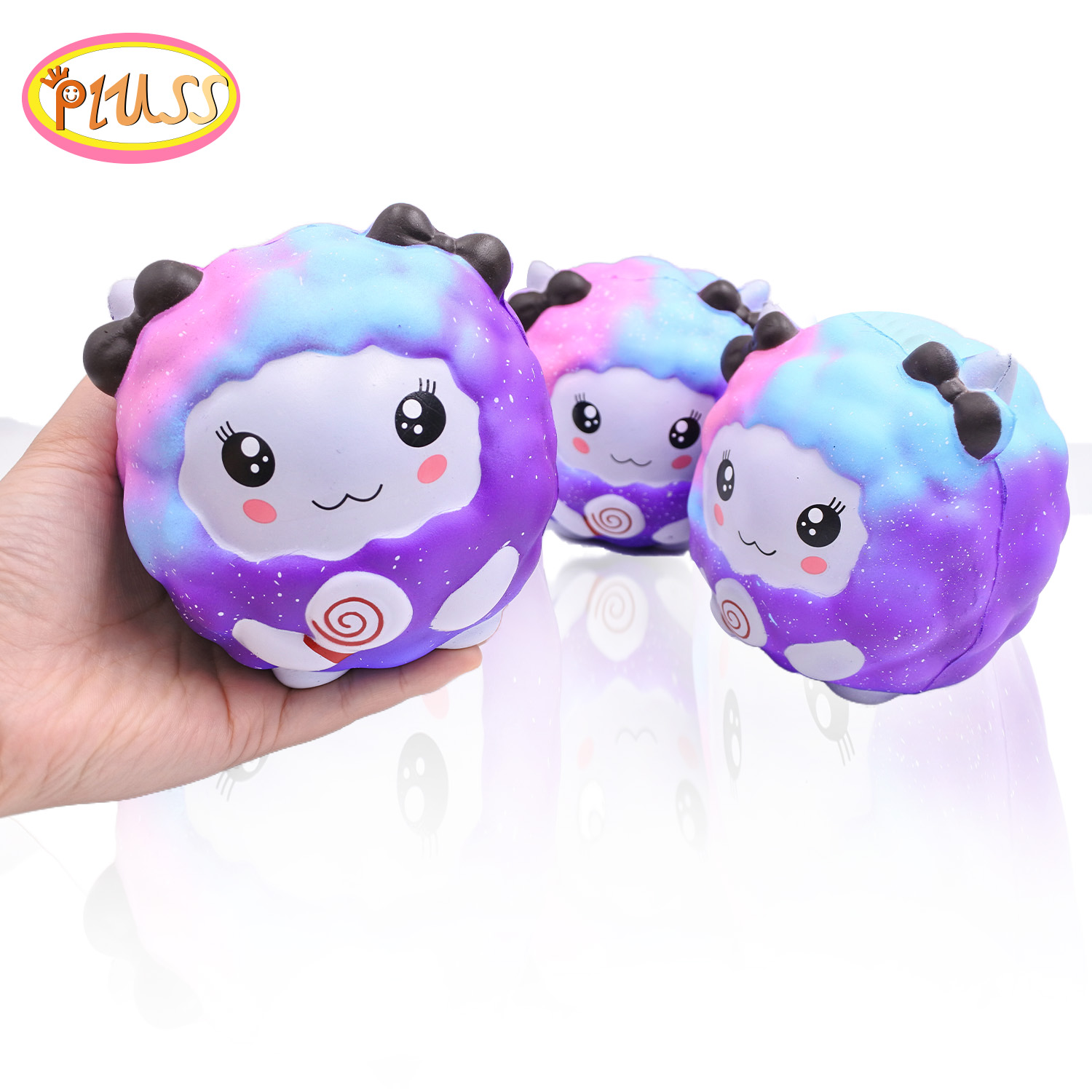 Jumbo Galaxy Sheep Squishy Kawaii Animal Slow Rising Soft Squeeze Toy Simulation Bread Scent Stress Relief Fun For Kid Girl Gift