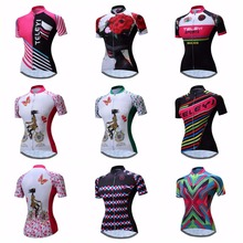 Pink Cycling Jersey Women Bike Top Shirt Summer Short Sleeve MTB Cycling Clothing Ropa Maillot Ciclismo Racing Bicycle Clothes