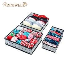 Diniwell 1 компл. складных Коробки для бюстгальтер Нижнее Бельё для девочек складной шкаф Организатор Ящика Делитель Контейнер