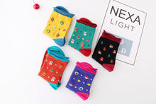 New Fashion Christmas Xmas Rolled edge Socks Cute Cartoon Hosiery Gift snowman snowflake Stylish Womens Socks
