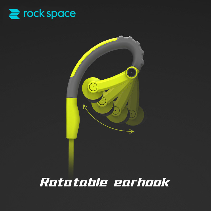 ROCKSPACE Y6 Sport Écouteurs Portable Sport Casque avec Micro Intra-auriculaires Sweatproof Casque pour l'iphone 6 iPod Samsung