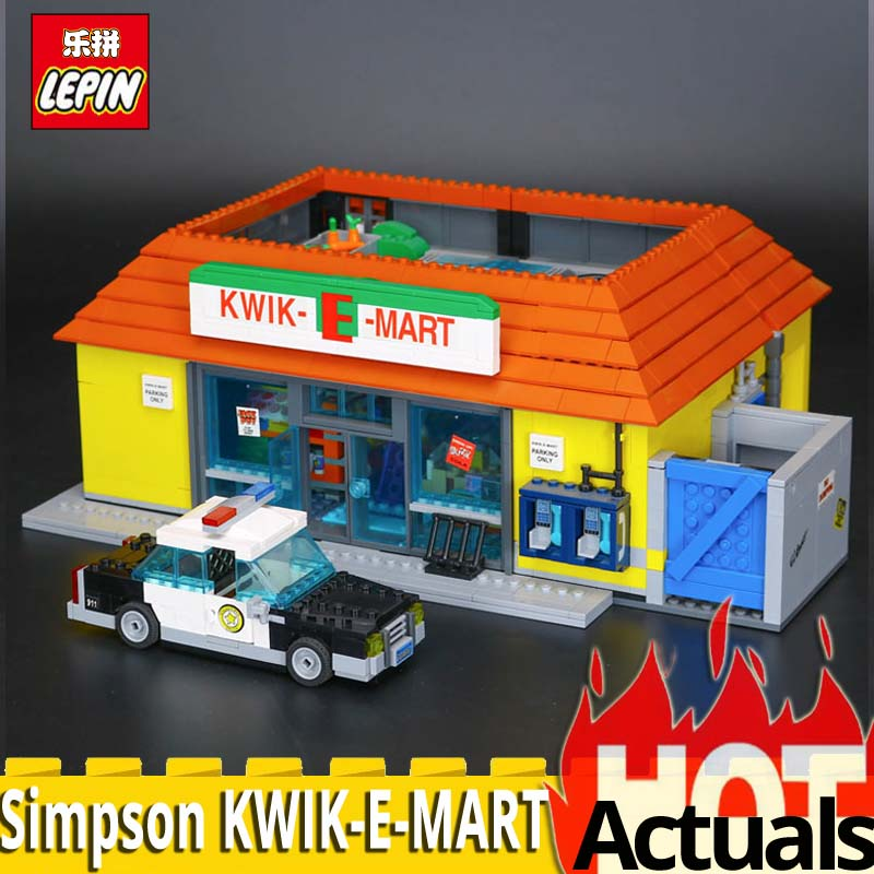 2018 Lepin Building Blocks Bricks 16004 Simpson KWIK-E-MART Model set Assembling Toys Compatible With 71016 Educational DIY Toys