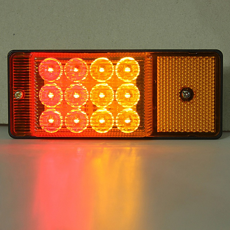 10 Pcs Lot LED Car Side Marker Lights Turning Signal Lamp for 24V Truck Trailer Lorry Yellow in Signal Lamp from Automobiles Motorcycles
