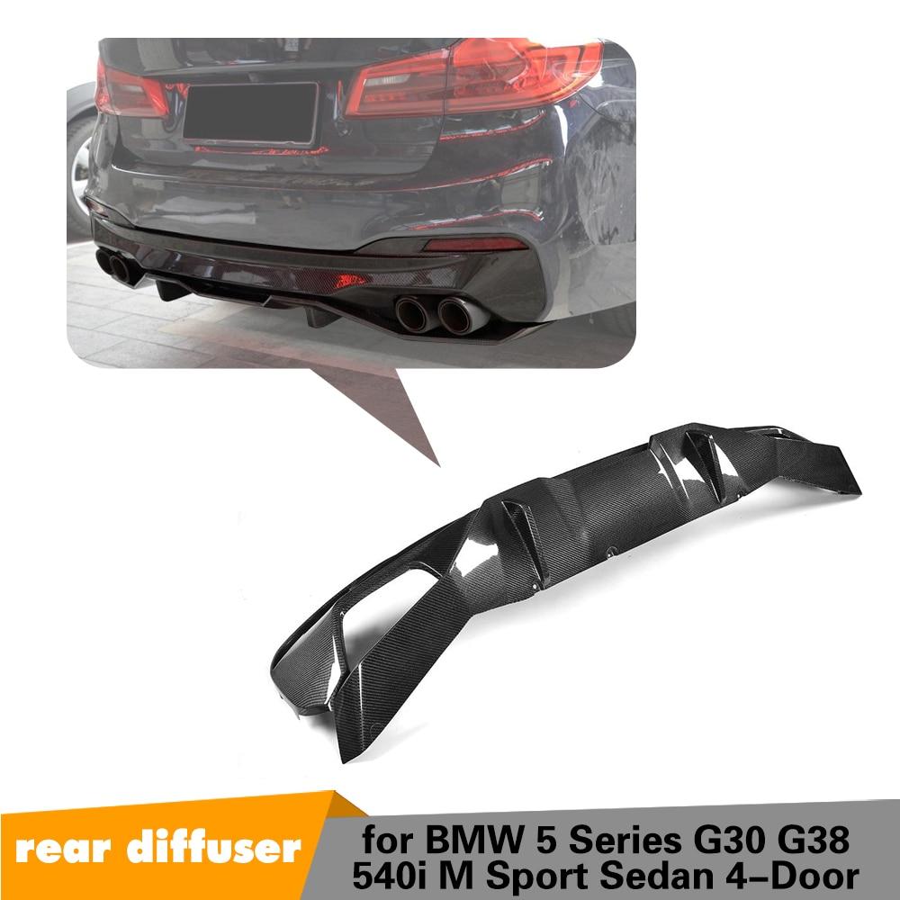5 Series Carbon Fiber Replacement Rear Bumper Lip Spoiler Diffuser