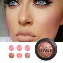 Focallure Baked Blush Face Maquiagem Soft Smooth Mineralize Makeup Blush Palette Bronzer Blusher 6colors for choose