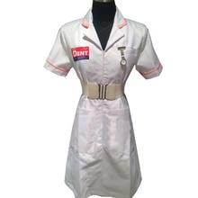 2016 настроены с учетом взрослый Бэтмен Косплей Джокер белую униформу медсестры платье Косплэй костюм для Хэллоуина