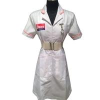2017 Customized tailored Adult Batman cosplay Joker Nurse White Uniform Dress Cosplay Costume For Halloween