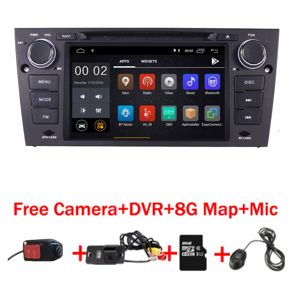 2019 Latest Android 9.0 Car DVD Player for BMW E90 E91 E92 radio stereo Wifi 3G Bluetooth USB SD OBD Mirror Free Camera+8GB map