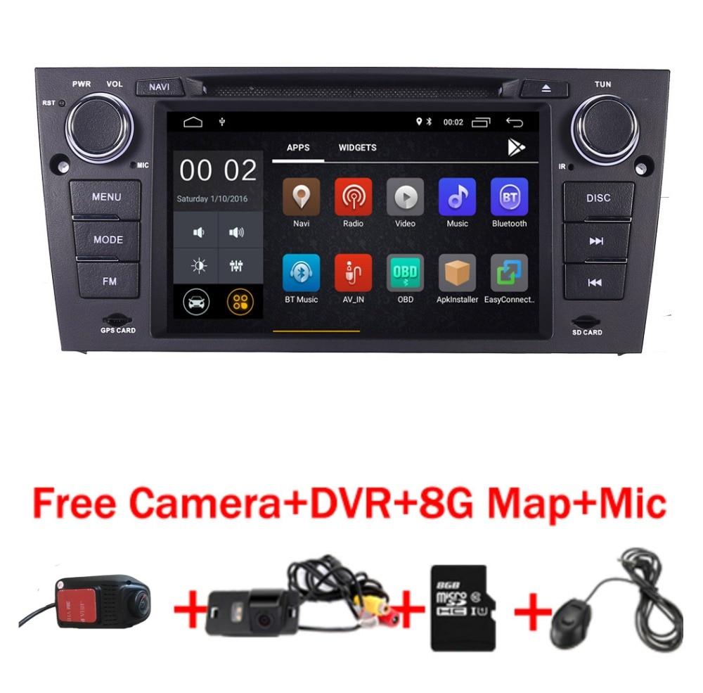 2019 Mais Recente Android 9.0 Jogador Do Carro DVD para BMW E90 E91 E92 3 estéreo rádio Wi-fi G Bluetooth USB SD OBD Espelho Câmera Livre + 8 GB mapa